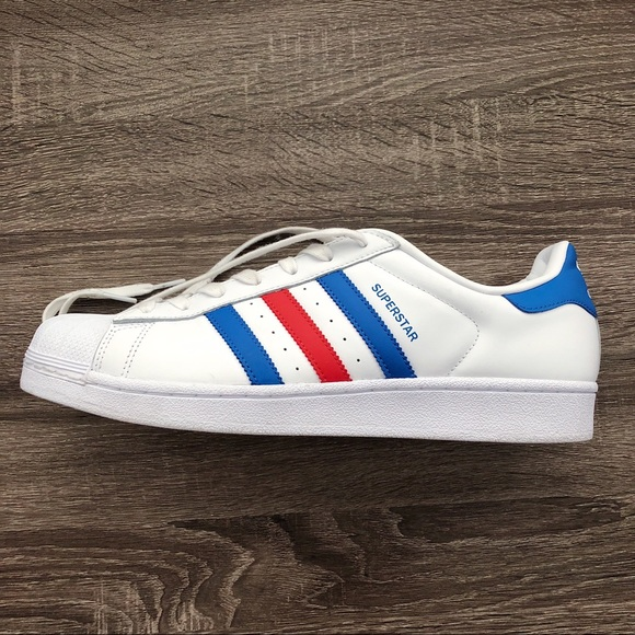 5d6532bf68d9 adidas Other - red and blue adidas superstars